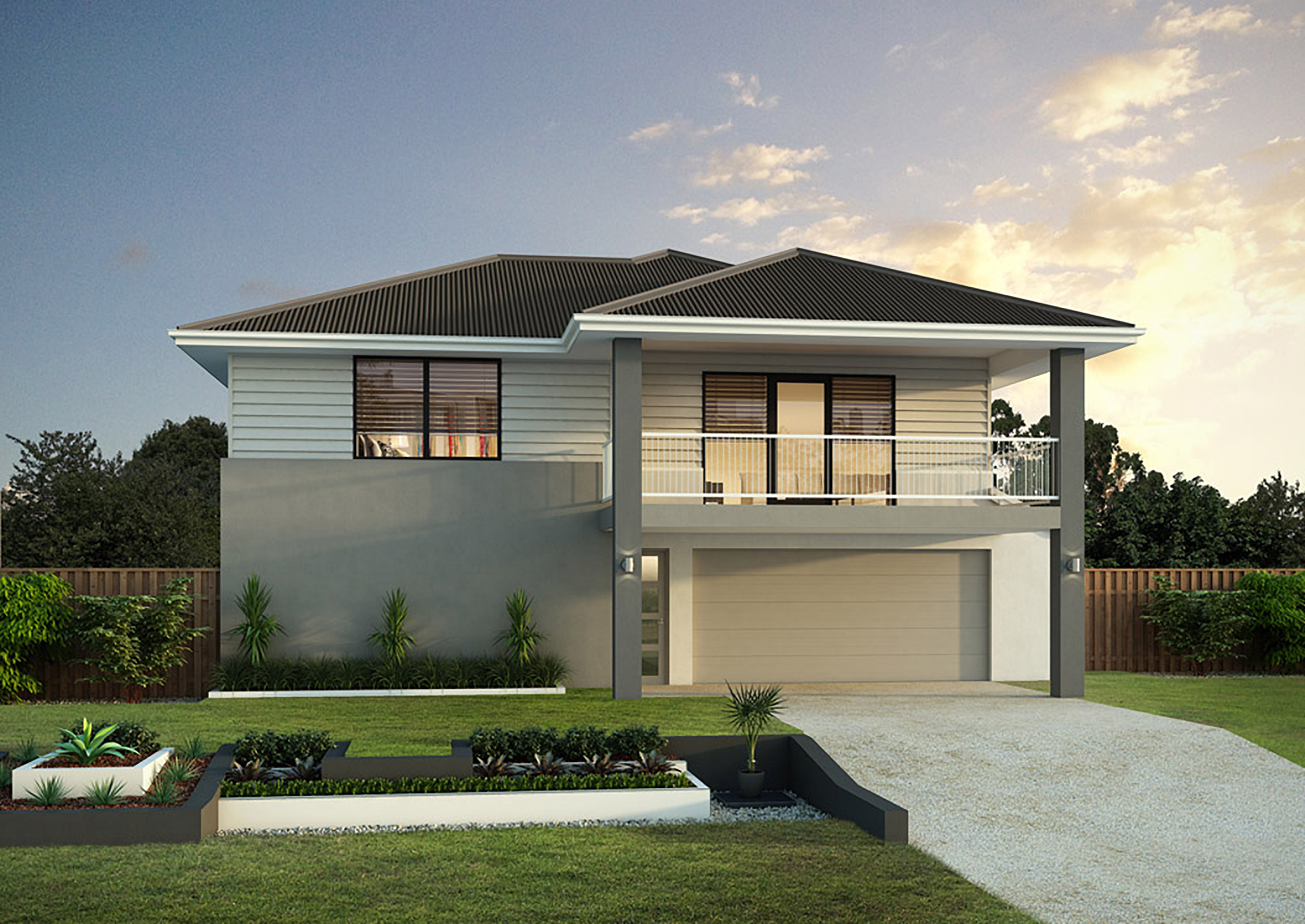 Milton 27 misa constructions for Hip roof house